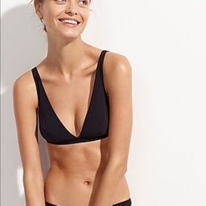 JCrew luxury bras v neck plunge - small NWT